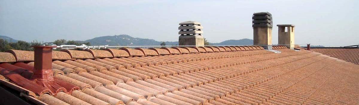 Linea vita, esempio di applicazione su tetto
